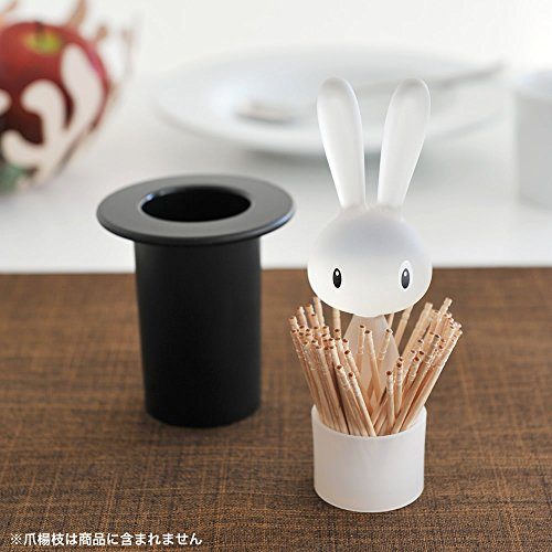 Alessi ASG16 B''Magic Bunny'' Toothpick Holder, Black by Alessi (Image #4)