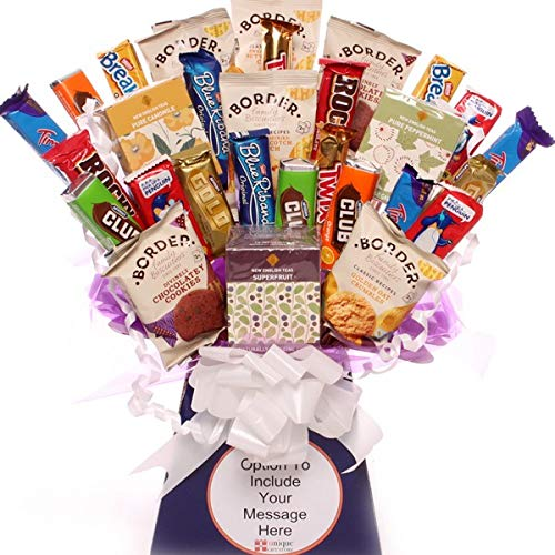 Tea Infusion and Biscuit Bouquet, a Wonderful Gift for All Tea and Biscuit Lovers, Wow Factor Gift That is Perfect for All Occasions, Free Gift Wrapping and are Gift tag