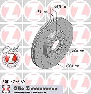 2x ZIMMERMANN SPORT-BREMSSCHEIBE GELOCHT Ø312 VORNE FÜR AUDI TT 8N 1.8 98-06