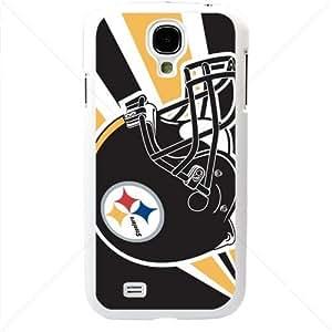 NFL American football Pittsburgh Steelers Samsung Galaxy S4 SIV I9500 TPU Soft Black or White case (White)