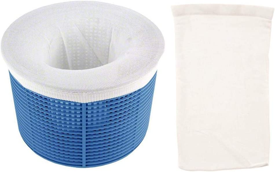 5//10//20 Pack Pool Skimmer Socks Durable Elastic Nylon Fabric Filter Savers for Baskets and Skimmers Fine Mesh Screen Protect Filters Skimmers Removes Debris Leaves Oil Pollen Bugs Scum More,White