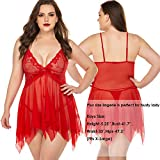 Avidlove Red Lingerie for Women for Him Maternity
