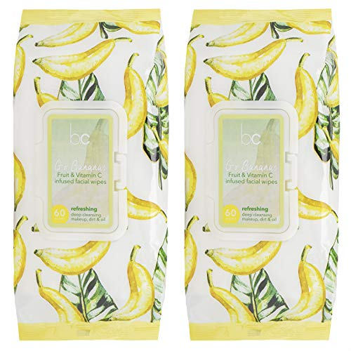 Beauty Concepts – 2 Pack (60 Count Each) Go Bananas Fruit & Vitamin C Infused Facial Wipes