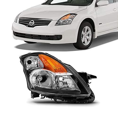 (For 07-09 Altima 4 Doors Sedan Halogen Type Passenger Right Side Headlight Front Lamp Direct Replacement)