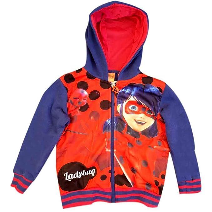 Ragazza it Cappuccio Ladybug Con Amazon Miraculous Felpa q1IYwna