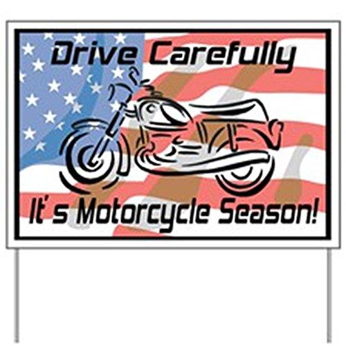Cafepress   Motorcycle Season Yard Sign   Yard Sign  Vinyl Lawn Sign  Political Election Sign