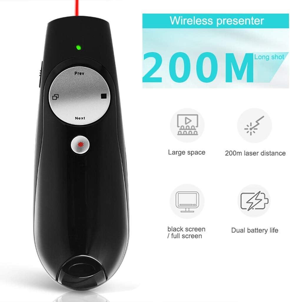 YFDD Presentador inalámbrico, USB 2.4 GHz de Control Remoto 100 Fortalecer la tecnología Plug and Play PowerPoint PPT clicker Oficina Punteros aijia
