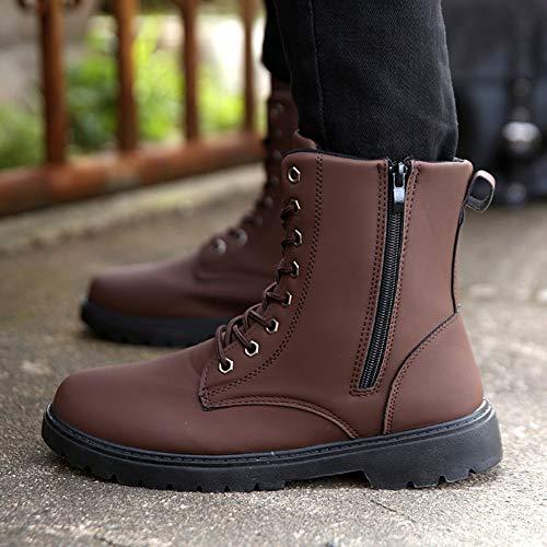 Martin Felpa Retro Wealsex Mas Marrón Botas Cima Redonda Cordón Zapatos De Hombres Alta Hombre Cabeza gZqC4wxdq