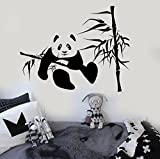 great bamboo wall decals Wall Stickers Vinyl Decal Cute Panda Animal Bamboo Decor for Kids Room (i229)