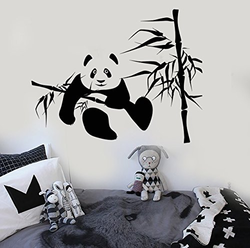 Wall Stickers Vinyl Decal Cute Panda Animal Bamboo Decor for Kids Room (i229)