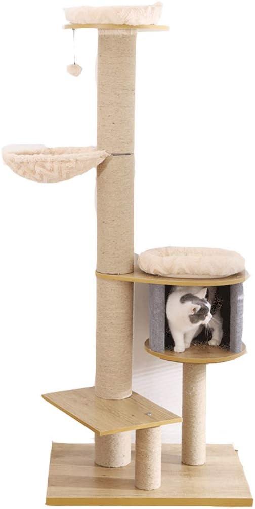 Árbol del gato grande de los muebles Rascador gato Madera de ratán ...