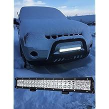 Lightfox 20inch 126w CREE LED Light Bar Spot Flood Combo Work Light LED Bar Driving Fog Light with Mounting Bracket for Off Road, Truck, Car, ATV, SUV, Jeep, 1 Year Warranty