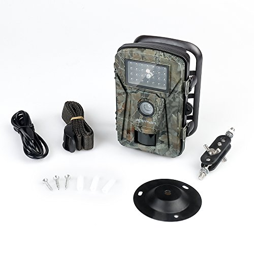 NEW VERSIONAPEMAN Trail Camera 12MP 1080P 24 LCD GameHunting Camera with 940nm Upgrading IR LEDs Night Vision up to 65ft 20m IP66 Spray Water Protected Design Game Trail Cameras