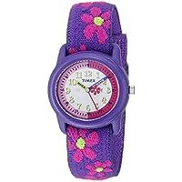 Reloj analógico Timex para niña con correa de tela elástica