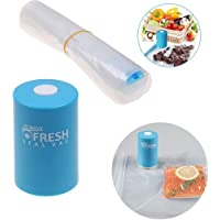 Seladora A Vacuo Alimentos Pratico Embala Recarregavel Plastico 5 Sacolas