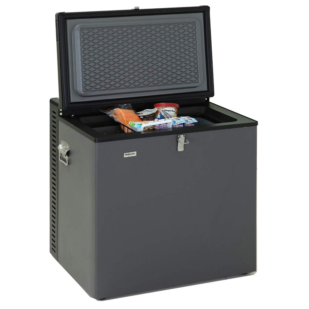 Generic Electric LPG AC/DC Propane Gas Absorption Chest Freezer RV,2.4 Cu Ft,Black