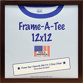 product image for Frame USA Frame-A-Tee Series 12x12 T-Shirt Frame (Walnut) | Choose Color and Size