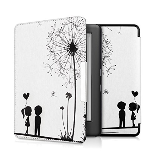 kwmobile Case for Kobo Glo HD (N437) / Touch 2.0 - Book Style PU Leather Protective e-Reader Cover Folio Case - black white by kwmobile (Image #7)