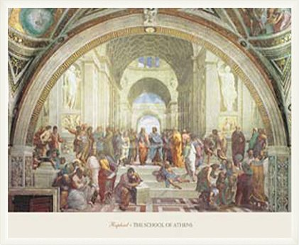 ポスター ラファエロ サンティ アテネの学堂 額装品 ウッドベーシックフレーム(ホワイト) B0031IQHPA ホワイト ホワイト
