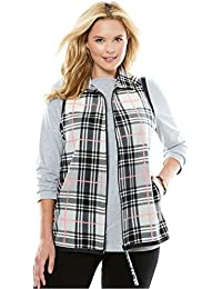 Women's Plus Size Microfleece Vest