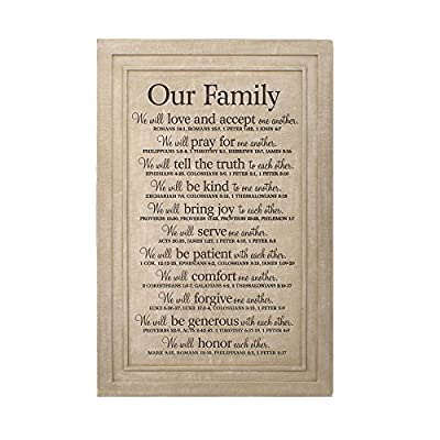 "Lighthouse Christian Products Large Our Family Wall Plaque, 11 1/4 x 16 3/4"" by Lighthouse Christian Products"