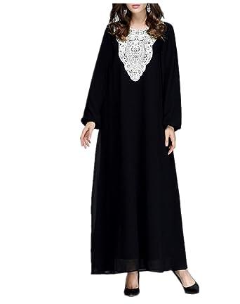 90c33525c259f Amazon.com  Muslim Robes Abaya Islamic Dress - Women Maxi Jalabiya Kaftan   Clothing