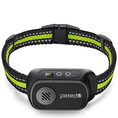 Dog Bark Collar, Rechargeable Bark Collar with Beep Vibration and Shock, Dog Bark Collar for Small Medium Large Dogs