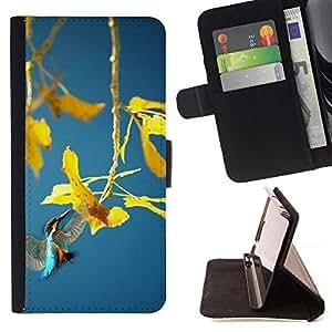 For Samsung Galaxy S4 IV I9500 Case , Planta de la primavera- la tarjeta de Crédito Slots PU Funda de cuero Monedero caso cubierta de piel