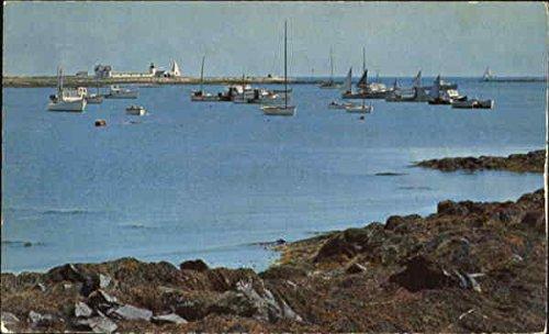 (Goat Island Light Cape Porpoise, Maine Original Vintage Postcard)