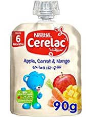 Cerelac Apple, Carrot and Mango Baby Food, 90g - Pack of 1