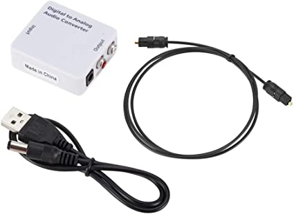 Optical Coaxial Toslink Digital to Analog Audio Converter Adapter RCA L//R 3.5mm