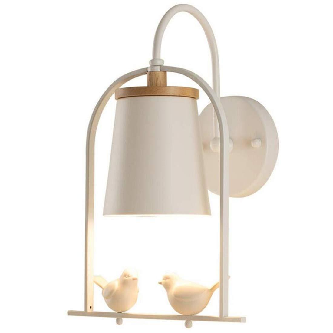Vintage Chandeliersconce For Children Room Bird Decor Geometric Wall Light Bedside Bedroom Weiß Wood Lighting Fixture,