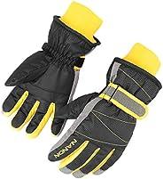 AMYIPO Kids Winter Snow Ski Gloves Children Snowboard Gloves for Boys Girls (Black, M)