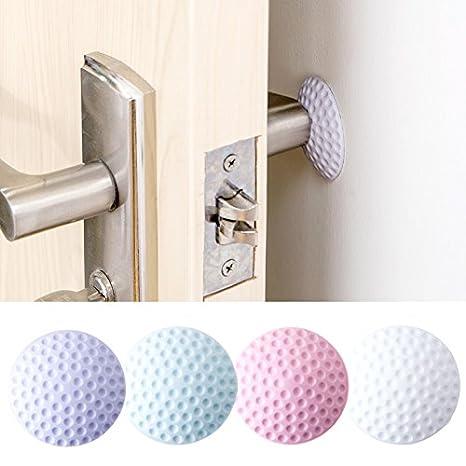 Wall Stickers New Fashion Silent Door Wall Protector Anti-collision Pad Rubber Pad Door Handle Lock Protective Pad Color Random