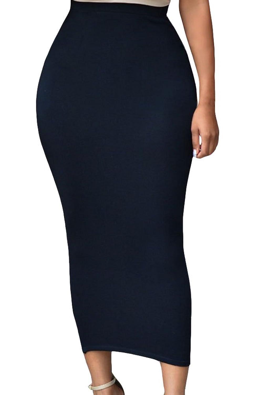 black bodycon maxi skirt skirt ify