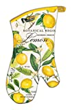 Michel Design Works Padded Cotton Oven Mitt, Lemon Basil