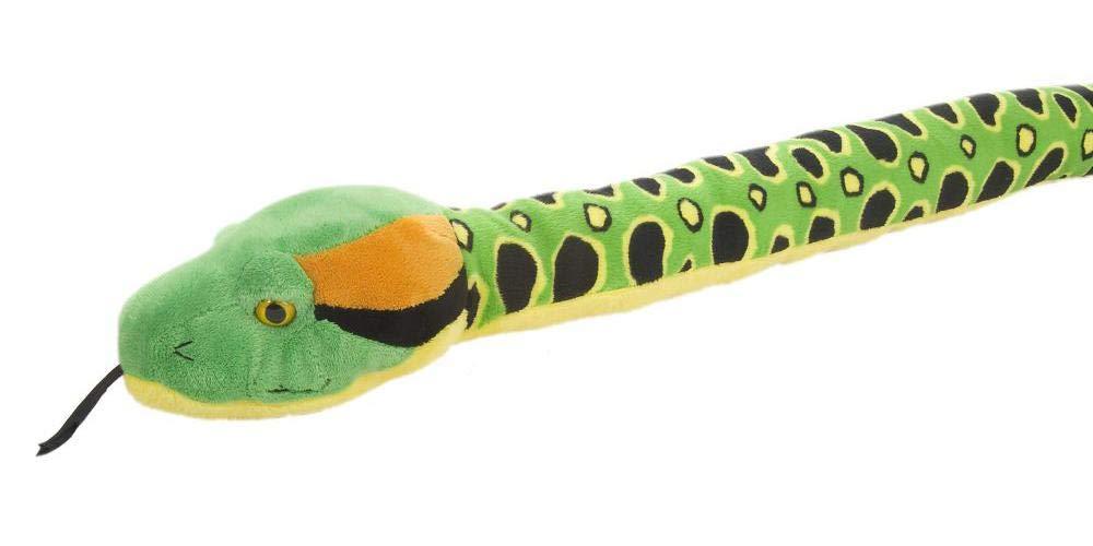 Wild Republic Anaconda Snake Stuffed Animal, Plush Toy, Reptile, 54