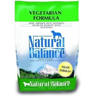 Natural Balance Vegetarian Formula Dry Dog Food, Brown Rice, Oatmeal, Pearled Barley, Peas & Potatoes, 4.5 Pounds