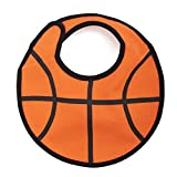 GOGO Baby Boy Sports Ball Bibs, Cute Ball Bib, 1 Pc, adjustable Closure BASKETBALL