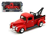 Maisto 1940 Ford Pickup Tow Truck Red 1/24 Car