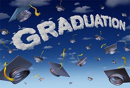 CSFOTO 6x4ft Background for Graduation Celebration Party Photography Backdrop Throwing Hat College Future Success Graduate Symbol Happy Honour Photo Studio Props -