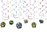 American Greetings, Teenage Mutant Ninja Turtles Hanging Swirl Decorations, 12-Count