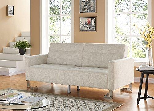 Casabianca Furniture Spezia Collection Fabric Sofa Bed, Beige