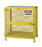 Little Giant GSU-24D-40H Yellow Steel Upright Gas Cylinder Storage Unit Locker, 40'' Overall Height, 38'' Overall Width, 26'' Overall Depth