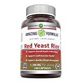Amazing Formulas Red Yeast Rice 1200 mg 240 Capsule - Supports Overall Health & Well-Being, Supports Cardiovascular Health, Supports Healthy Weight Management