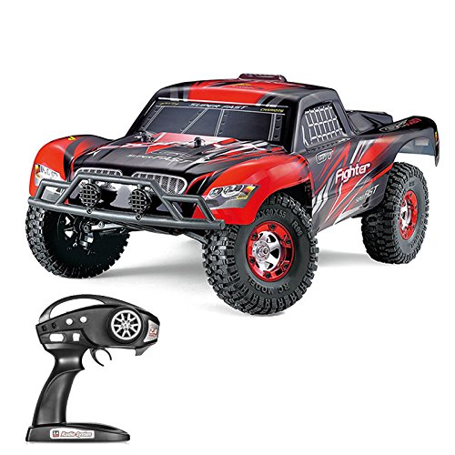 Early Version Fighter (Tecesy RC Car FIGHTER-1 1:12 4WD 2.4G Full Scale High Speed RC Buggy Off-road Short Course Truck (Red))