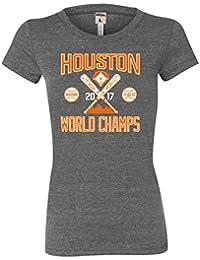 Womens Houston World Champs 2017 Tri-Blend T-shirt