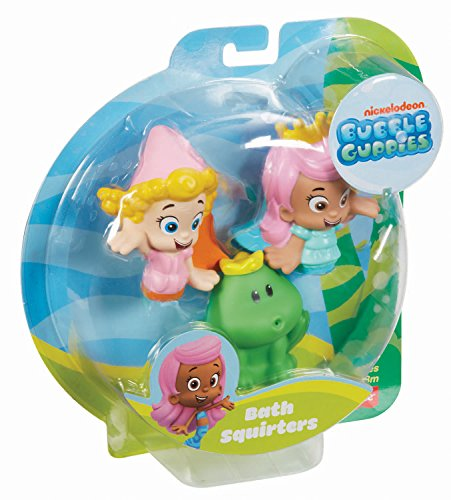 . Fisher Price Bubble Guppies  Molly  Deema and Frog Bath Squirters
