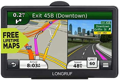 GPS Navigation for Car, 2020 Map 7 inch Touch Screen Car GPS, Voice Turn Direction Guidance, Support Speed and Red Light Warning, Pre-Installed North America Lifetime map Free Update