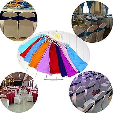 champagne Champagne /… 50/stretch bande Housse de chaise de mariage avec boucle n/œud coulissant pour rubans D/écorations Housses de chaise Chaise D/écoration